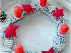 Венец в червено и бяло