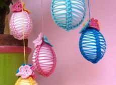 Плетени, украсени яйца