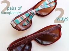 Слънчеви очила- по два начина