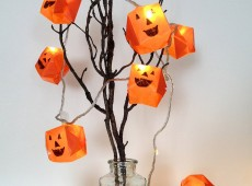 Оригами лампички за Хелоуин