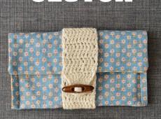 Клъч с плетена лента