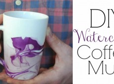 Боядисана чаша за кафе